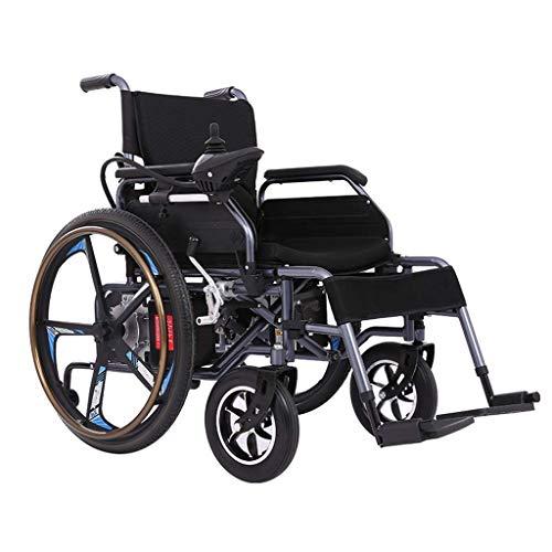 GBX@I Silla de ruedas eléctrica, ligera, plegable, con batería de polímero de litio de 20 Ah para personas mayores y discapacitadas Yu