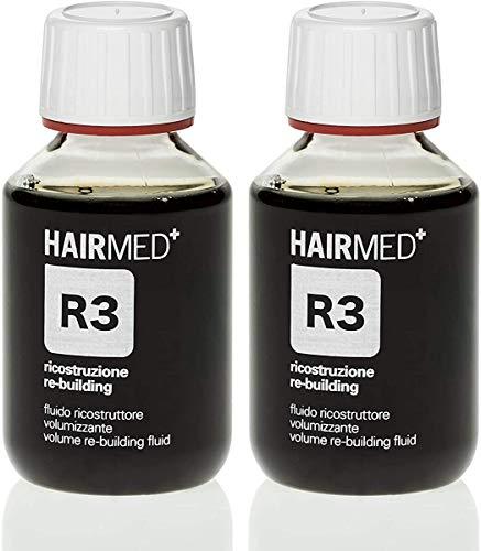 R3 - RICOSTRUZIONE CAPELLI PROFESSIONALE - Fluido Ricostruttore Volumizzante - Hairmed - BI-PAK 100mlx2