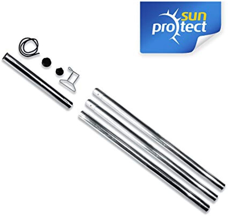 Gartenia Sunprotect Stahl-Mast-Set für Sonnensegel, zerlegbar, Farbe 2 Masten, Stück 3-teilig