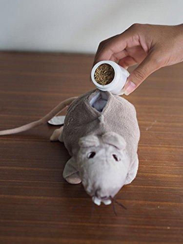 Katzenspielzeug Katzenminze Spielzeug Ratte Maus Puppe (haben eine Tasche im Inneren für Katzenminze)