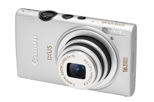 Canon IXUS 125 HS Digitalkamera (16 MP, 5-fach opt. Zoom, 7,5cm (3 Zoll) Display, Full HD, bildstabilisiert) silber
