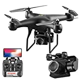 MROSW Drone 1080P Caméra HD Rotating Quadcopter Photographie Aérienne Pression Hover Un Atterrissage Key Vol 20 Minutes RC Helicopter