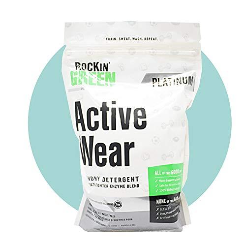Rockin Green – Active Wear (detergente para ropa deportiva y de exteriores) – 1,3 kg biodegradable y vegano