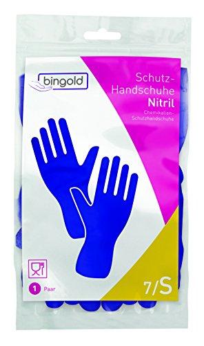 Guantes de nitrilo reutilizables, 1 par, tallas S, M, L o XL, azul o verde, S, azul, 1