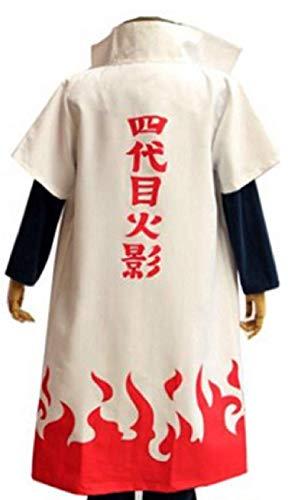 POYUT Anime Naruto Long Robe 4th Hokage Cosplay Costume Cloak with Headband Unisex, Large
