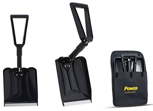 """Power Foldable Shovel – Completely Collapsible Form 26"""" Overall Length 12.5"""" Compact Length (Black Color)"""