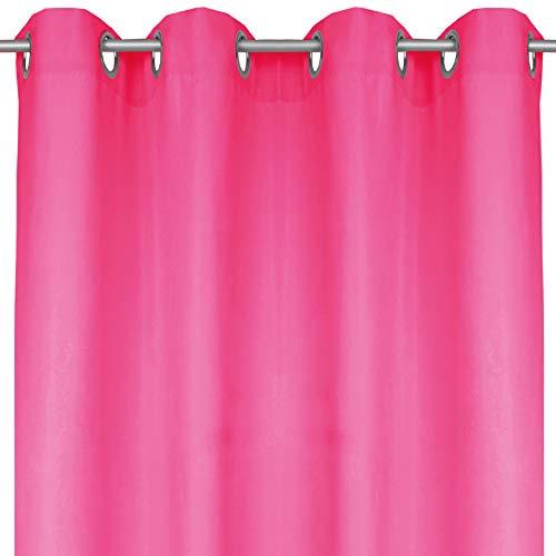 Bestlivings Blickdichte Pinke Gardine mit Ösen in 140x245 cm (BxL), in vielen Größen und Farben