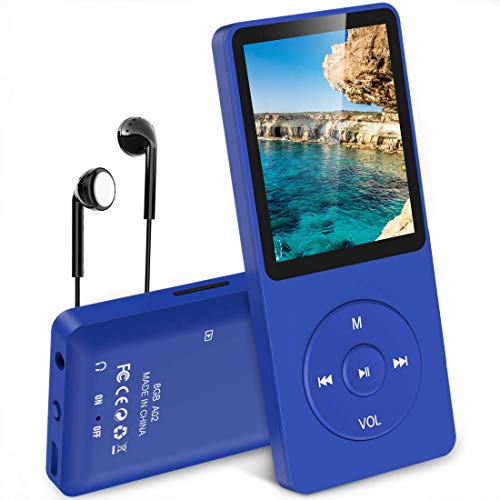 AGPTEK A02 Reproductor de MP3 8 GB Pantalla DE 1,8