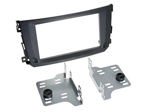 Carmedio 2-DIN Radioblende Smart ForTwo Facelift, schwarz
