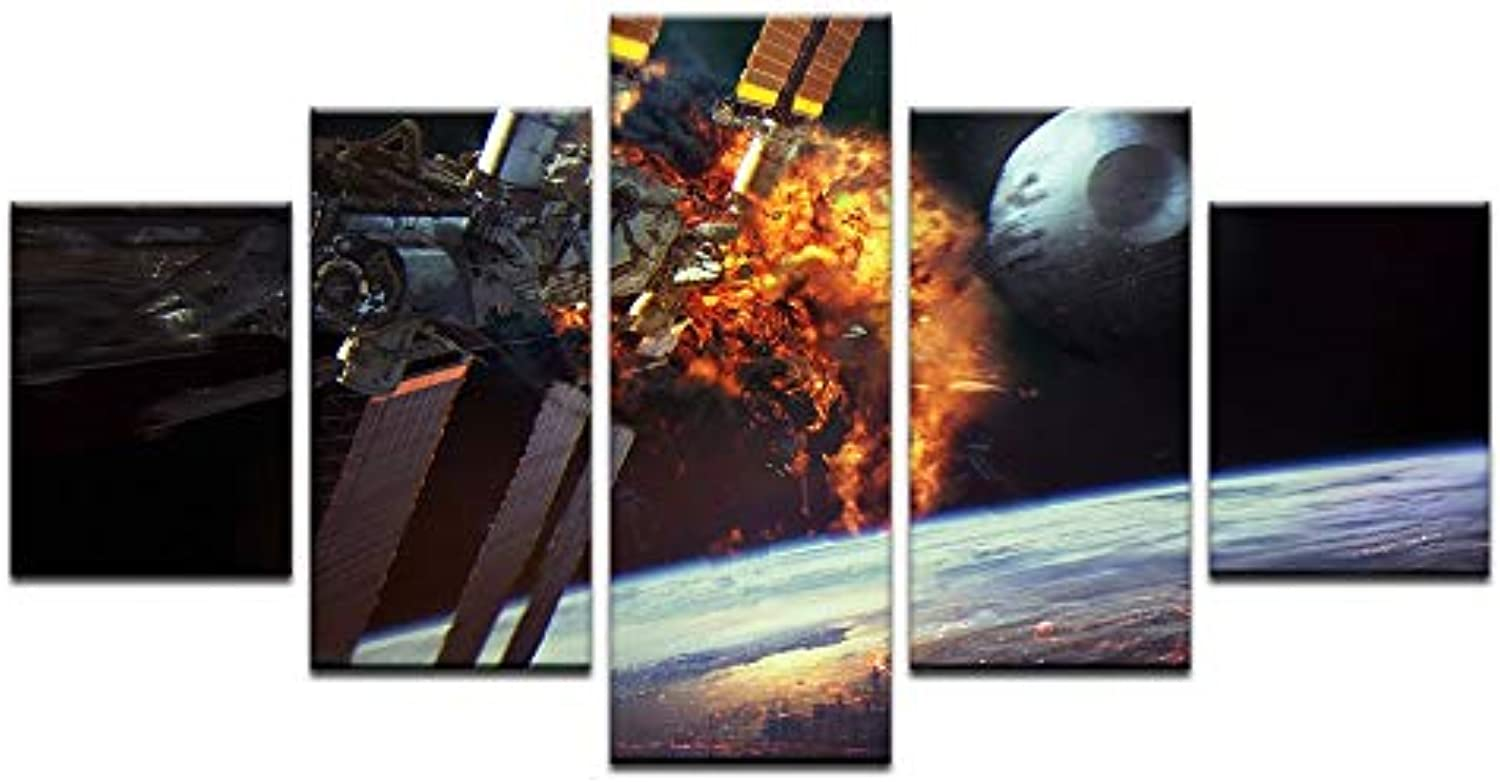 Large Painting for Living Room Home Decor HD Prints 5 Pieces Star Wars Game Poster Pictures Wall Art Framework