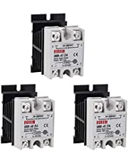 Yofuly - Solid State relais + koellichaam SSR-40 40A DC 3-32V naar AC 24-380V SSR 3-pack