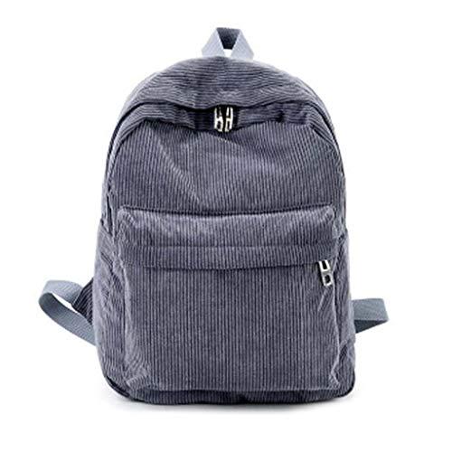 KunmniZ Frauen Vintage Rucksack Cord Rucksack Schultasche Casual Computer Bookbag