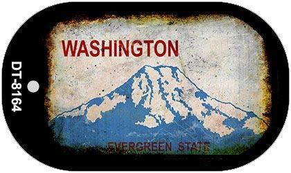 Koopje Wereld Washington Roestige Blank Achtergrond hond Tag Ketting (Met Sticky Notes)