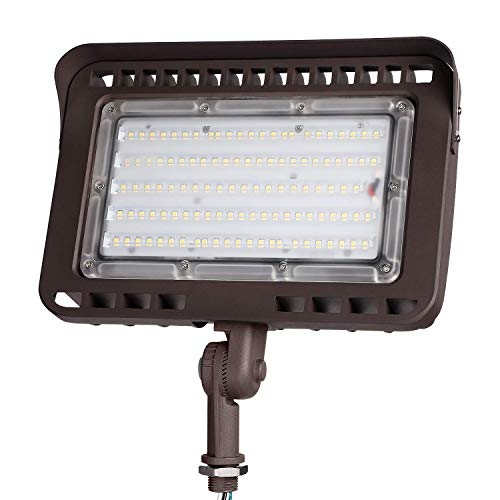 LEONLITE LED Outdoor Flood Light with Knuckle, 100W (1000W Eqv.) 11,000lm Super Bright, ETL Listed Wall Washer Security Light, CRI90+, IP65 Waterproof, 5000K for Yard/Parking Lot