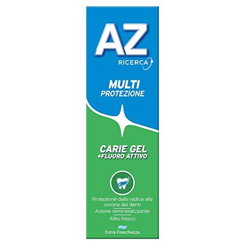 Dentifricio AZ Multi Protezione Carie Gel 75ml, Dentifricio Al Fluoro Per Adulti E Bambini