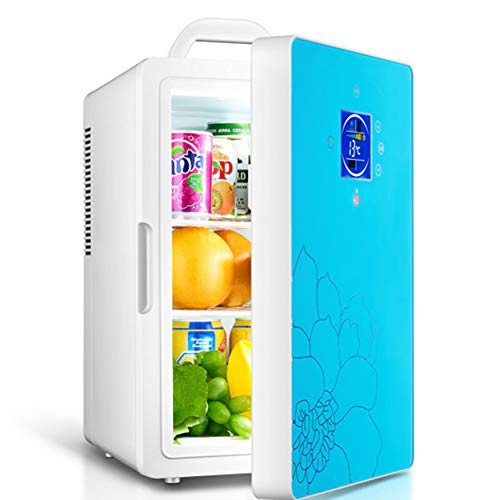 HYISHION Mini Fridge, Portable Refrigerator 16 Liter, Large Capacity Compact Cooler and Warmer with Digital Thermostat Display and Control Temperature, for Cars, Homes, Offices, and Dorms,Blue