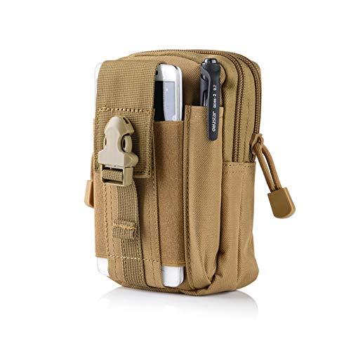 ZLDDE Duradero Bolsa de Cintura Paquete táctico Impermeable Cinturón de Viaje Teléfono Bolsa Ejército Swat Militar Camuflaje Bolsas de la Cintura Accesorios para Trabajadores Senderismo al Aire Libre