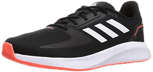 adidas RUNFALCON 2.0, Zapatillas para Correr Hombre, Core Black/FTWR White/Solar Red, 40 2/3 EU