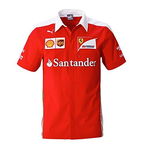 Nouveau ! Ferrari Formula One F1 T-shirt à manches courtes pour homme Rouge Taille S à XXL, rouge/blanc, Mens (S) Chest 34-36 inches