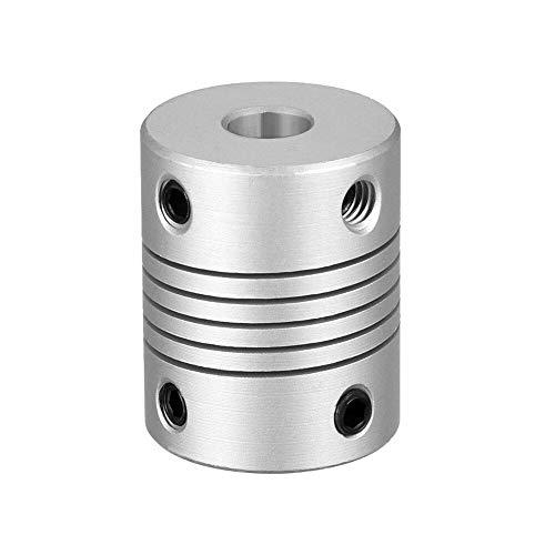 Flexible Kupplung, 5 mm auf 8 mm, Motorverbinder, 4 ~ 10 mm, Wellenkupplung, 25 x 19 mm, CNC-Motorbacken-Wellenkupplung, 1 Stück (6 mm bis 6,35 mm)