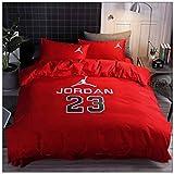 SSUU Jordan # 23 Bull Ropa de Cama de la Estrella de 4 Piezas Funda nórdica * 1 + 1 + * Hoja de la Funda de Almohada * 2 Habitación Resistente a Las Arrugas Recuerdos de style2-2.0m