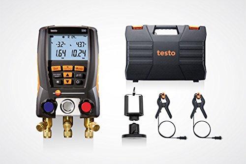 testo 550 Set 0563 1550 - Digitale Monteurhilfe mit Bluetooth + Kleinschmidt GmbH Magnet-Smarphonehalter