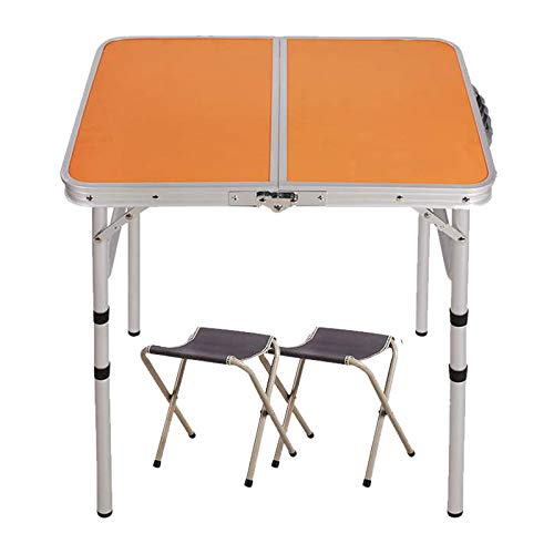 SHYM Portable Tables Folding Free Installation Adjustable Height Retractable Handle Aluminum Alloy Frame Lightweight Portable Camping Table