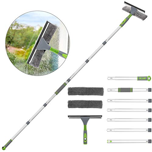 HomRush Window Squeegee Cleaner Extendable, 267CM Long Handled Cleaning Kit, Professional Washing...