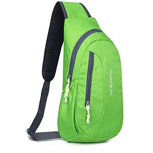 Al aire libre Sling Crossbody hombro bolsa de pecho Pack Running Senderismo Ciclismo Mochila de viaje para hombres mujeres adolescentes