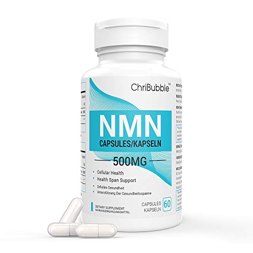 NMN Supplements with Maximum Strength | 500mg Per Capsule | Powerful Boost NAD+ Levels for Supports Anti-Aging & Mental Performance | NAD Supplement | 60 Capsules Nicotinamide Mononucleotide (1 Pack)