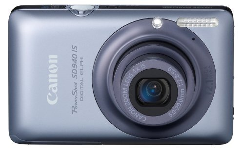 Canon PowerShot SD940IS 12.1MP Digital Camera with 4x Wide Angle Optical Image Stabilized Zoom and 2.7-inch LCD (Blue)