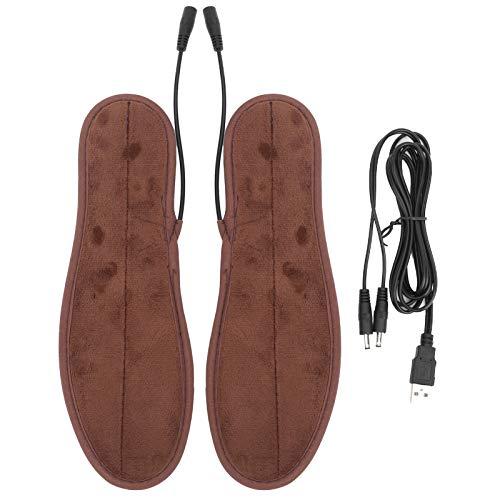 Qqmora 37-38 Insertos para Zapatos calefactores portátiles Plantillas térmicas Suaves Recargables Plantillas térmicas para Invierno para Esquiar en Invierno, Caminar para Zapatos de Cuero, Zapatos