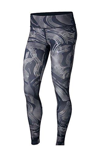 Nike Power Essential Mallas, otoño/Invierno, Mujer, Color Black/Atmosphere Grey/Reflective Silver, tamaño Medium