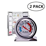 JSDOIN Freezer Refrigerator Refrigerator Thermometers Large Dial Thermometer 2 Pack (2 PACK)
