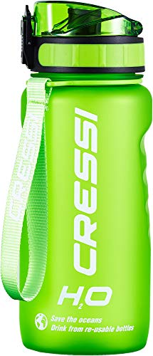 Cressi Water Bottle H20 Frosted, Borraccia Sportiva Unisex, Verde, 600 ml