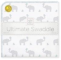 SwaddleDesigns (スワドルデザインズ) :: 究極のおくるみ ブランケット 毛布 SD-460 :: Ultimate Receiving Blanket Elephant & Chickies :: One Size :: ワンサイズ :: 品質保証