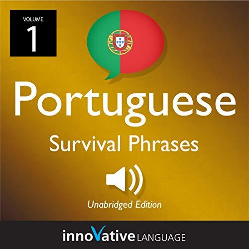 Learn Portuguese: Portuguese Survival Phrases  audiobook cover art