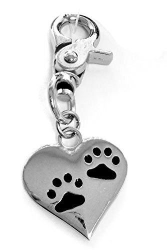 Pet Dog Cat Memorial Charm You Left Paw Prints On My Heart Zinc Charm, 3 Inch 64536