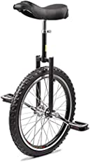 Topleads 20 inch Junior Unicycle High-Strength Manganese Steel Fork, Adjustable Seat, Aluminum Alloy Buckle Black