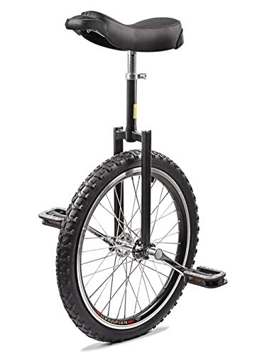 Topleads 16 inch Junior Unicycle High-Strength Manganese Steel Fork, Adjustable Seat, Aluminum Alloy Buckle Black