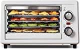 Acero Inoxidable 5 Bandeja de Alimentos deshidratar BPA-Free 38~78 ° C Configuración de Temperatura máxima 12h Máquina de secador de Frutas con Receta Gratuita Máquina de deshidratador de Libro