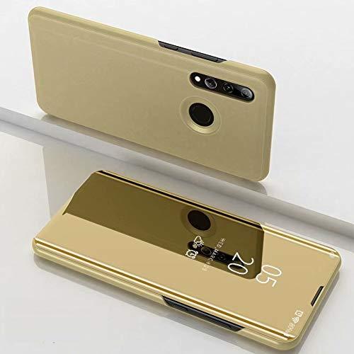 A/M Huawei-Handyfall JRC Galvanik Spiegel Horizontal Flip Ledertasche for Huawei Honor 10i / Nova 4 Lite, mit Halter (Black) Huawei Erweiterte Stoß- Rückfall (Color : Gold)