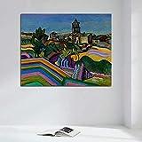 N / A Pintura de Campo Rural póster impresión Arte de la Pared Pintura decoración Pintura Moderna Sala de Estar Mural decoración del hogar sin Marco 60x80 cm