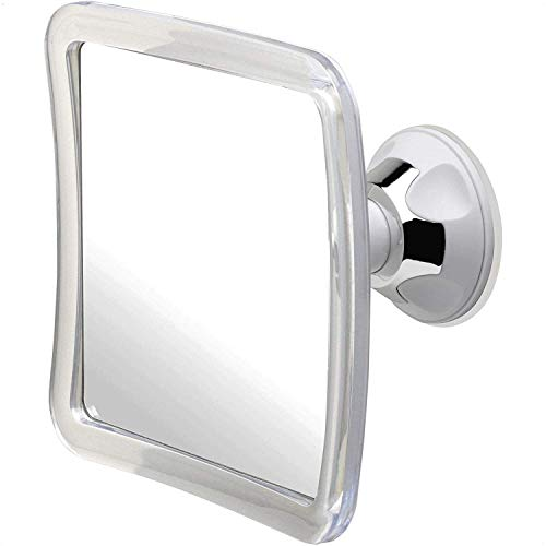 """3X Magnifying Shower Mirror For Fogless Shaving with Suction Cup, Shatterproof Surface and 360° Swivel, 6.3"""" x 6.3"""""""