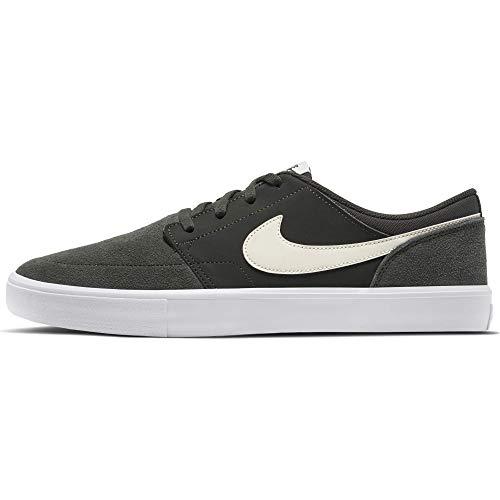 Nike Men's SB Solarsoft Portmore II Skateboarding Shoe, Zapatillas Unisex Adulto, Multicolor (Sequoia/Pale Ivory/Sequoia/Kumquat 302), 42.5 EU