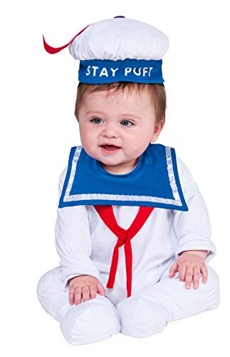Rubie's unisex baby Ghostbusters Classic Stay Puft Romper Costume, As Shown, 0-6 Months US