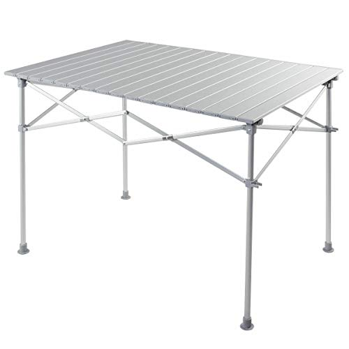 TimmyHouse Tailgate Camping Portable Folding Picnic Table Roll Up Travel Lightweight w/Bag