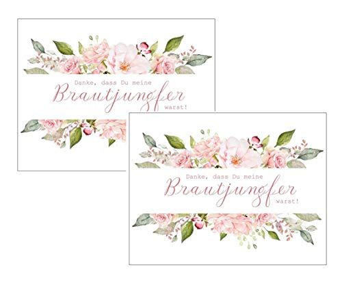 Paquete doble de tarjetas – Gracias por ser mi dama de honor warst! – Rosas idea regalo para boda, agradecimiento, hermana mejor amiga, dama de honor
