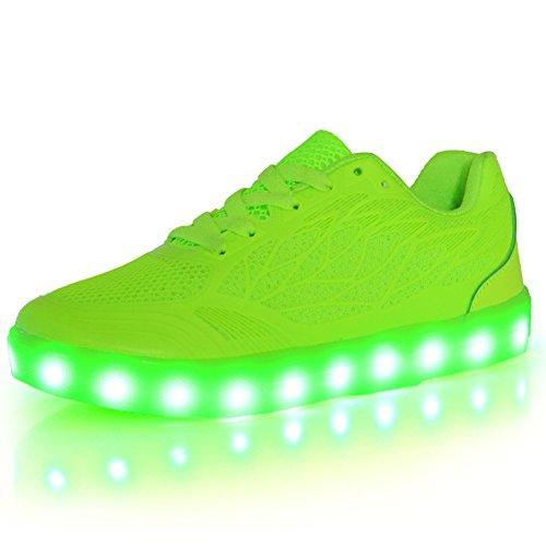 ON LED Schuhe USB Aufladen Leuchtend Sport Schuhe Sneakers Leichtbau brillant Stil Schuhe Fuer Damen Maedchen