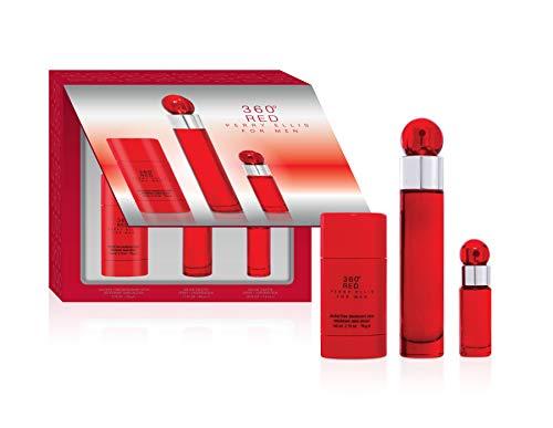 Perry Ellis Fragrances Perry Ellis 360 Red for Men - 3-piece Gift Set, 1.7 Fl Oz